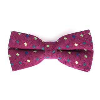 Фиолетовая галстук-бабочка со вставками