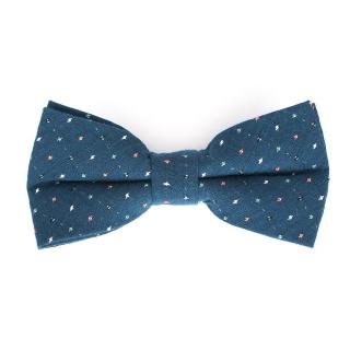 Синяя галстук-бабочка в крапинку
