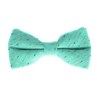 Купить бирюзовую галстук бабочку из хлопока