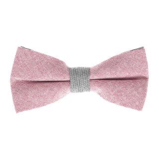 Розово-серая галстук-бабочка
