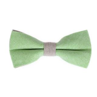 Салатово-серая галстук-бабочка