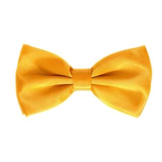 Желтая однотонная галстук-бабочка