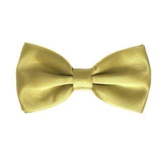 Однотонная золотая галстук-бабочка