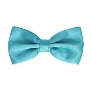 Однотонная бирюзовая галстук-бабочка