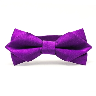 Фиолетовая шелковая галстук-бабочка