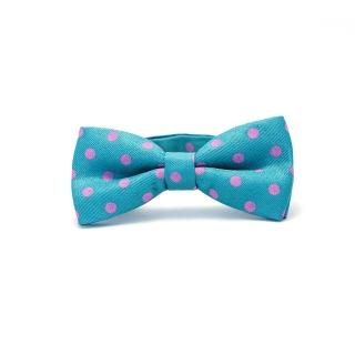Детская бирюзовая галстук-бабочка
