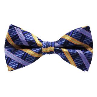 Синяя полосатая галстук-бабочка