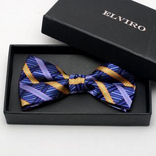 Купить синюю галстук-бабочку на застежке