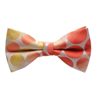 Купить галстук-бабочку с желто-красной текстурой