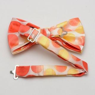 Яблочная галстук-бабочка на застежке