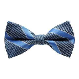 Голубая галстук-бабочка в полоску
