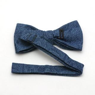 Синяя хлопковая галстук-бабочка