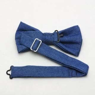 Джинсовая галстук-бабочка на застежке