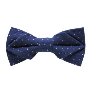 Купить синюю галстук-бабочку с цветными вставками