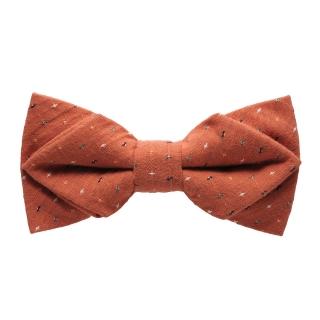 Купить рыжую галстук-бабочку со вставками