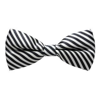 Купить галстук-бабочку в черно-белую полоску