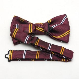 Вишневая галстук-бабочка на застежке