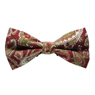 Купить узорчатую бордовую галстук бабочку