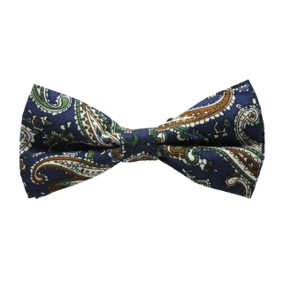 Купить синюю узорчатую галстук-бабочку