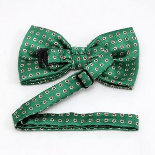 Зеленая галстук бабочка с цветами
