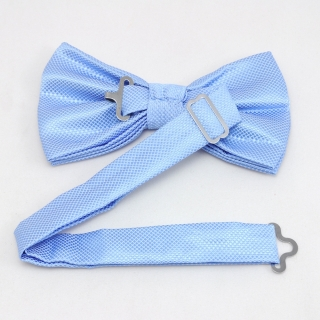 Фактурная галстук бабочка голубого цвета