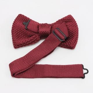 Купить бордовую галстук-бабочку на застежке