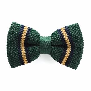 Купить зеленую вязаную галстук-бабочку