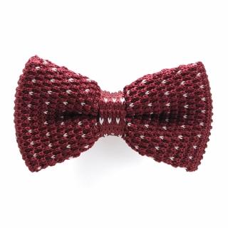 Купить вязаную бордовую галстук-бабочку