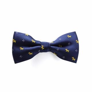 Детская галстук бабочка синяя с собачками