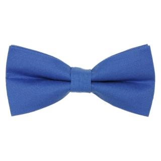 Синяя однотонная бабочка из хлопка