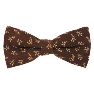 Коричневая галстук-бабочка с принтом