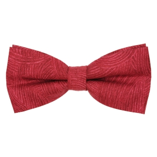 Малиновая галстук-бабочка из хлопка