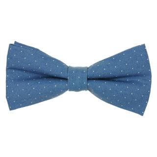 Голубая галстук бабочка из хлопка