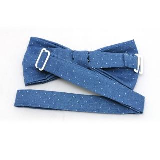 Купить голубую галстук бабочку хендмейд