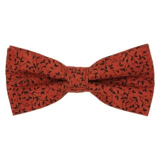 Купить бордовую галстук-бабочку из хлопка