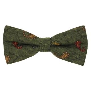 Зеленая галстук-бабочка из хлопка