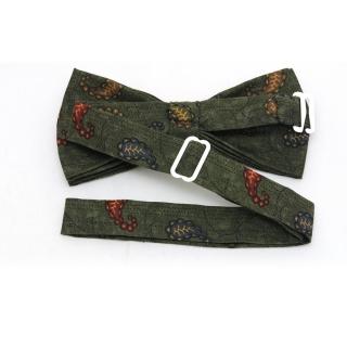 Купить зеленую галстук-бабочку с рисунком