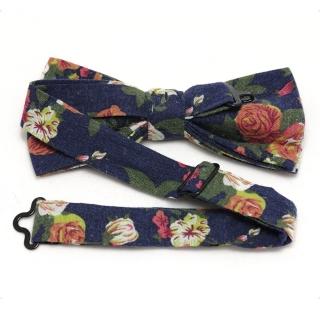 Дизайнерская галстук-бабочка с цветами