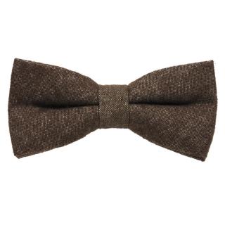 Коричневая шерстяная галстук-бабочка