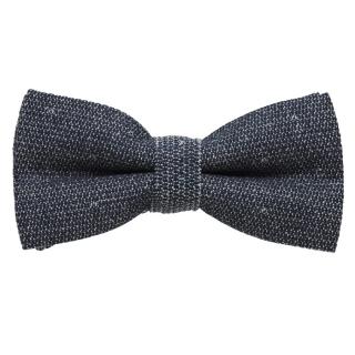 Серая галстук-бабочка их хлопка
