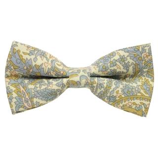Бежевая галстук-бабочка с узорами