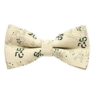 Купить бежевую галстук бабочку с принтом