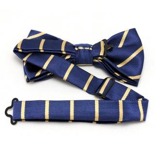 Заказать синюю галстук бабочку с полосками