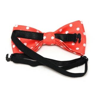 Купить детскую галстук бабочку красный горох