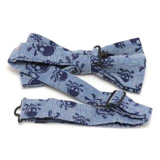 Купить бабочку галстук с серыми черепами