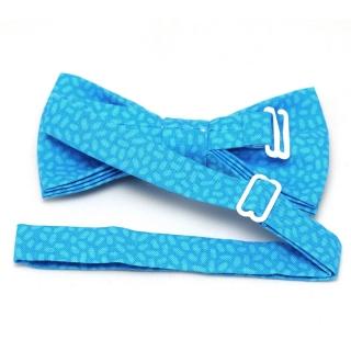 Купить бабочку галстук голубого цвета ручной работы