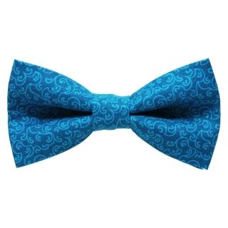 Насыщенный голубой узор на мужской бабочке