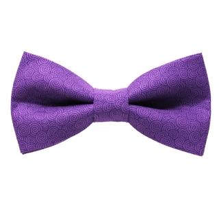 Фиолетовый галстук бабочка с узорами ручной работы
