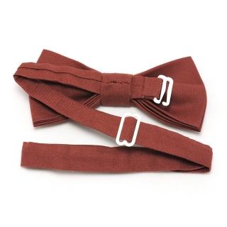 Купить терракотовый галстук бабочку ручной работы