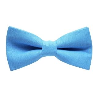 Однотонная голубая галстук бабочка